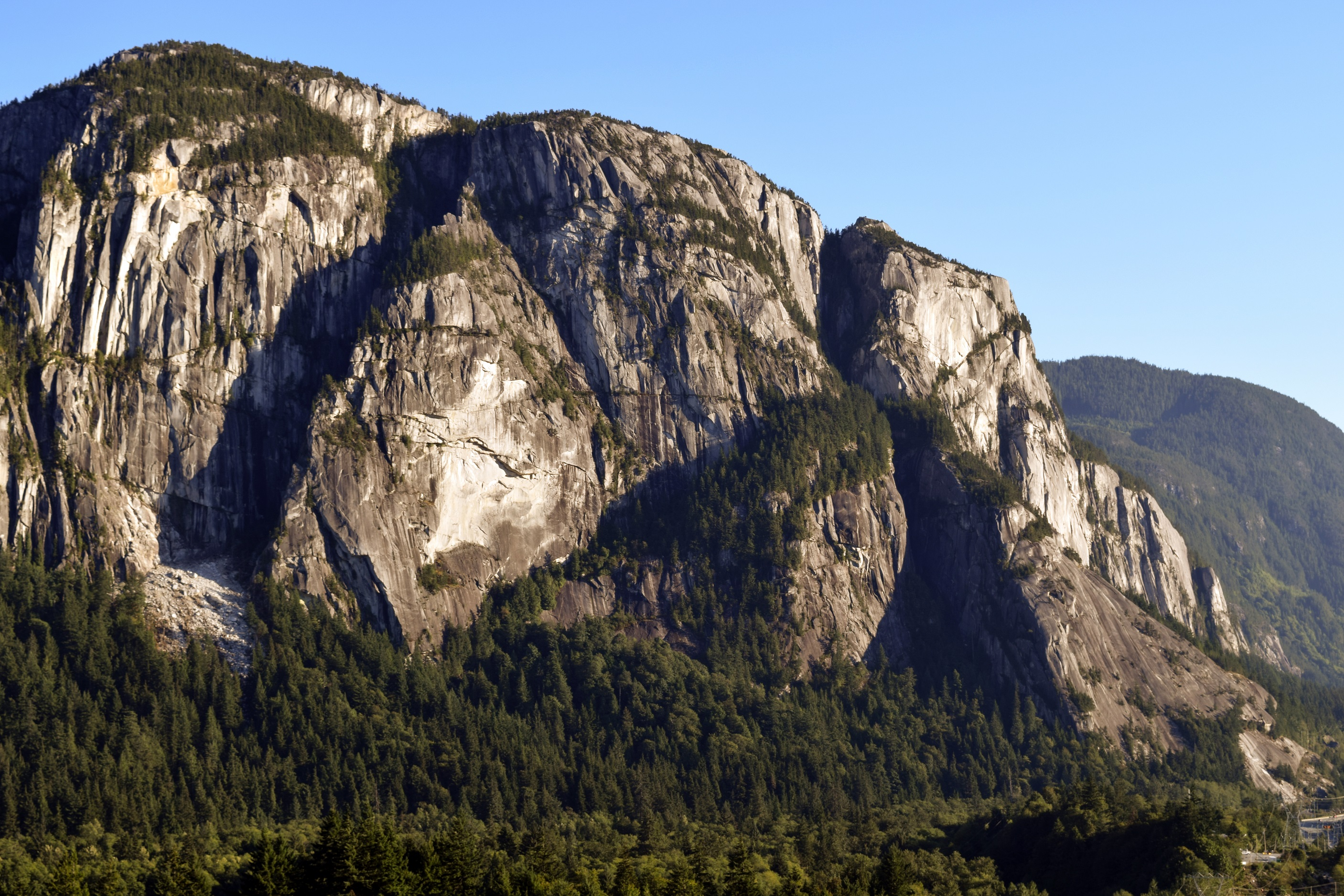 View of the Stawamus Chief in Squamish, British Columbia, Canada.